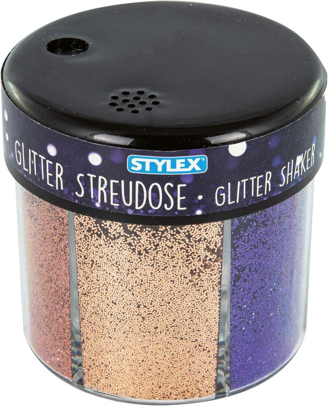 Stylex 23389 - Purpurina decorativa (60 g, en 6 colores diferentes)