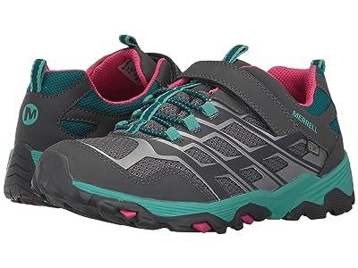 Merrell Kids Moab FST Low A/C Waterproof (Big Kid) (Grey/Multi) Girls Shoes