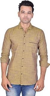 La Milano Plain Cotton Shirt for Men