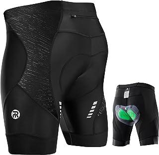 Rahhint Cycling Shorts Men, 4D Padded Bike Shorts MTB Shorts with Zipper Pockets Anti-Slip Leg Grips Reflective Stripe, Me...