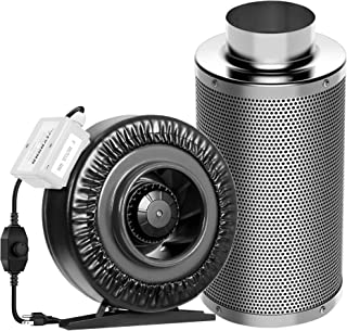 """Best VIVOSUN 6 Inch 440 CFM Inline Duct Fan with 6"""" x 18"""" Carbon Filter Odor Control with Australia Virgin Charcoal Review"""
