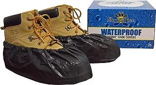 ShuBee Waterproof Shoe Covers, Black (40 Pair)