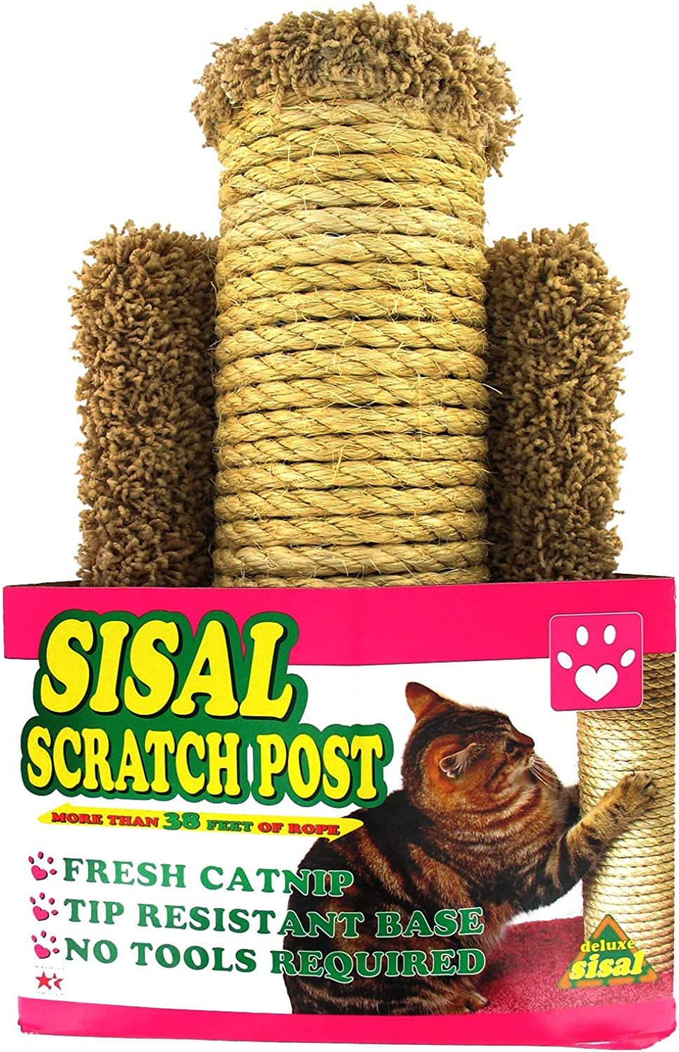 Flexrake Sisal Scratch Post for Cats 99105