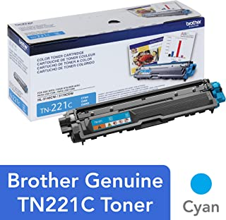 Brother TN-221C DCP-9015 9020 HL-3150 3170 3180 MFC-9130 9140 9330 9340 Toner Cartridge (Cyan) in Retail Packaging