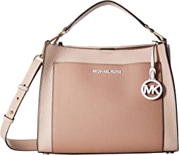 d884aee50 MICHAEL Michael Kors. Delaney Medium Top-Handle Canteen Messenger. $228.00.  Soft Pink/Fawn