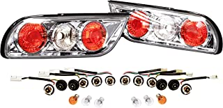 CarXX Tail Lights for Nissan S13 240SX Type X Hatchback Fastback 1996-1998/1989-1995 180SX Altezza Style Chrome Housing Clear Rear Tail Lights with Bulbs & Wiring