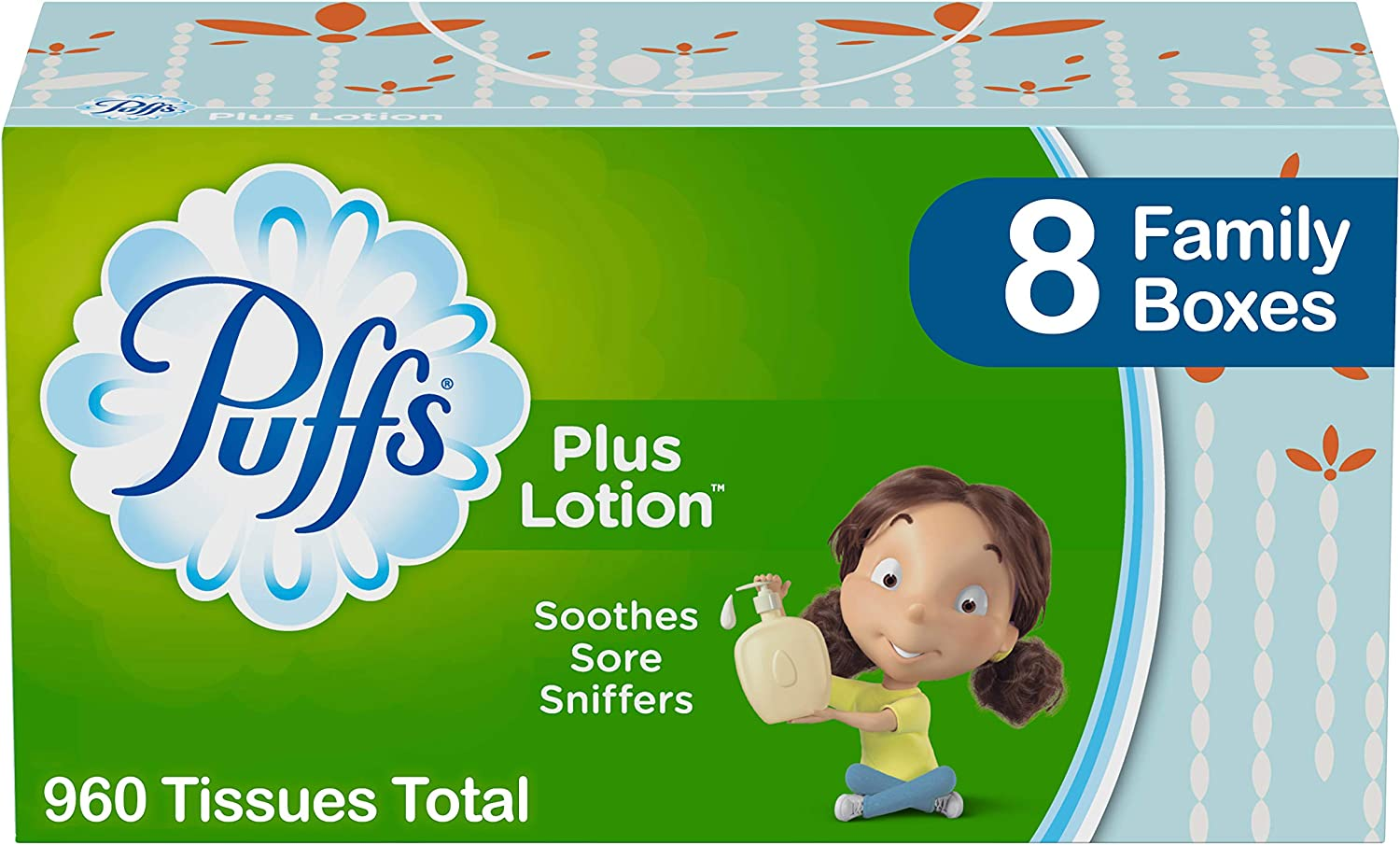 Puffs Plus Lotion Facial San Diego Mall Tissues 120 4 years warranty pe Family Boxes 8
