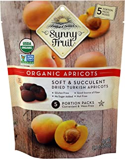 Sunny Fruit Organic Apricot, 250g, (Pack of 5)