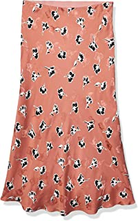 Rebecca Taylor womens Floral Bias Cut Midi Skirt Skirt