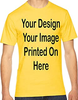 Custom T-Shirt Add Your Picture Text Name Design Artwork Logo Personalized Tee