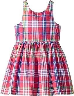 b83a8dc6e New. Pink Multi. 1. Polo Ralph Lauren Kids. Madras Plaid Cotton Dress ...