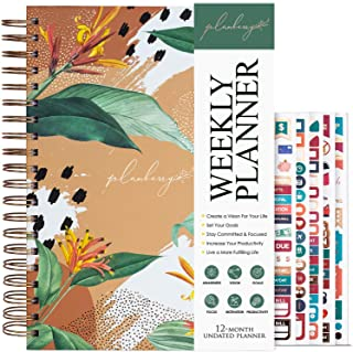 $27 » PLANBERRY Weekly Planner Large – 8x10.4″ Elegant Life & Budget Planner to Hit Your Goals & Live Happier - Organizer & Prod...