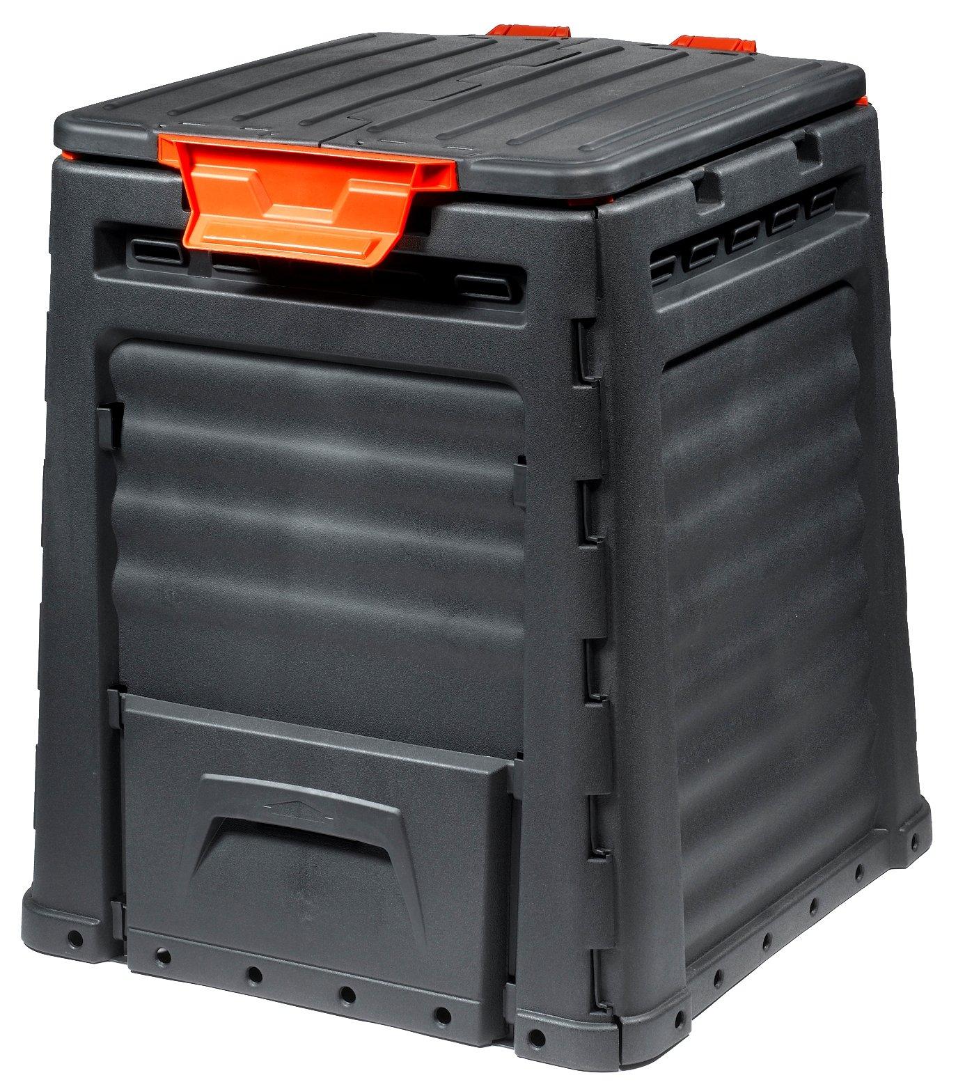 compostador r/ápido de pl/ástico compostador Estable compostador t/érmico como pr/áctico Sistema de Ranuras compostador para residuos de jard/ín 320 litros myGardenlust Compostador
