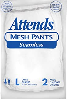 Attends Washable Seamless Knit Pants for Adult Incontinence Care, Large, Unisex, 2 Count (Pack of 50)