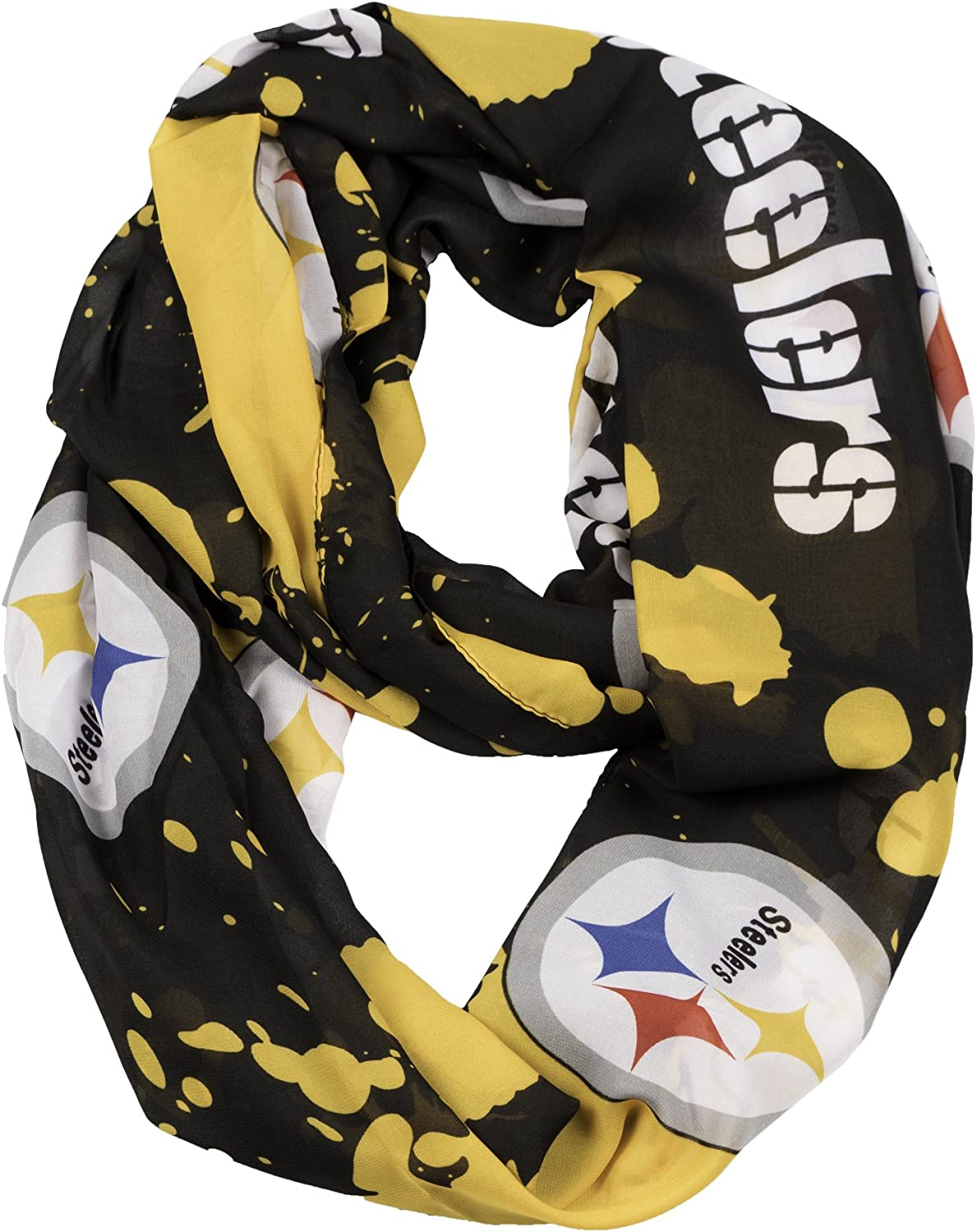 NFL Pittsburgh Steelers Silky Spatter Infinity Scarf