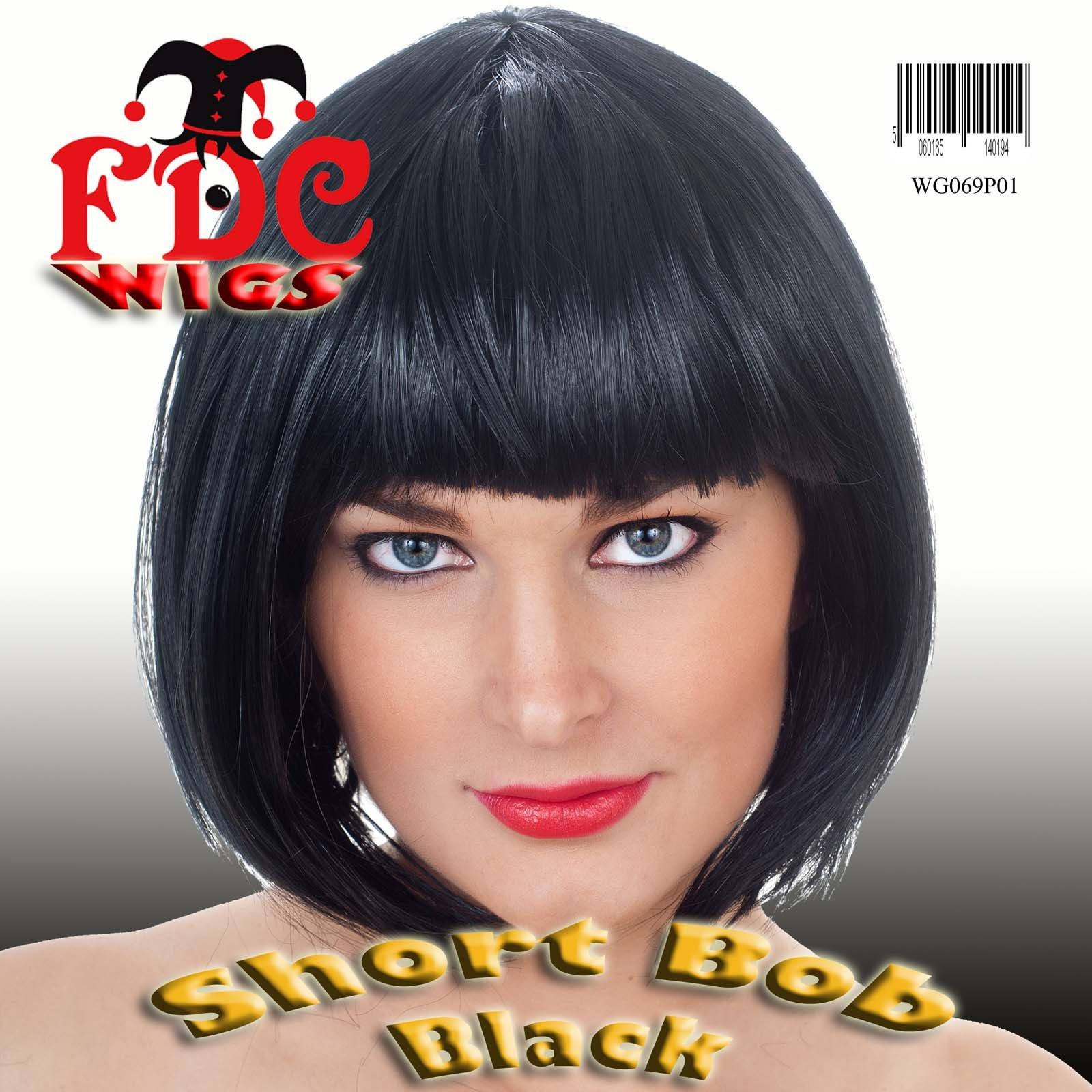 FDC Brand Black Bob Wig Snow white Jessie J Cleopatra