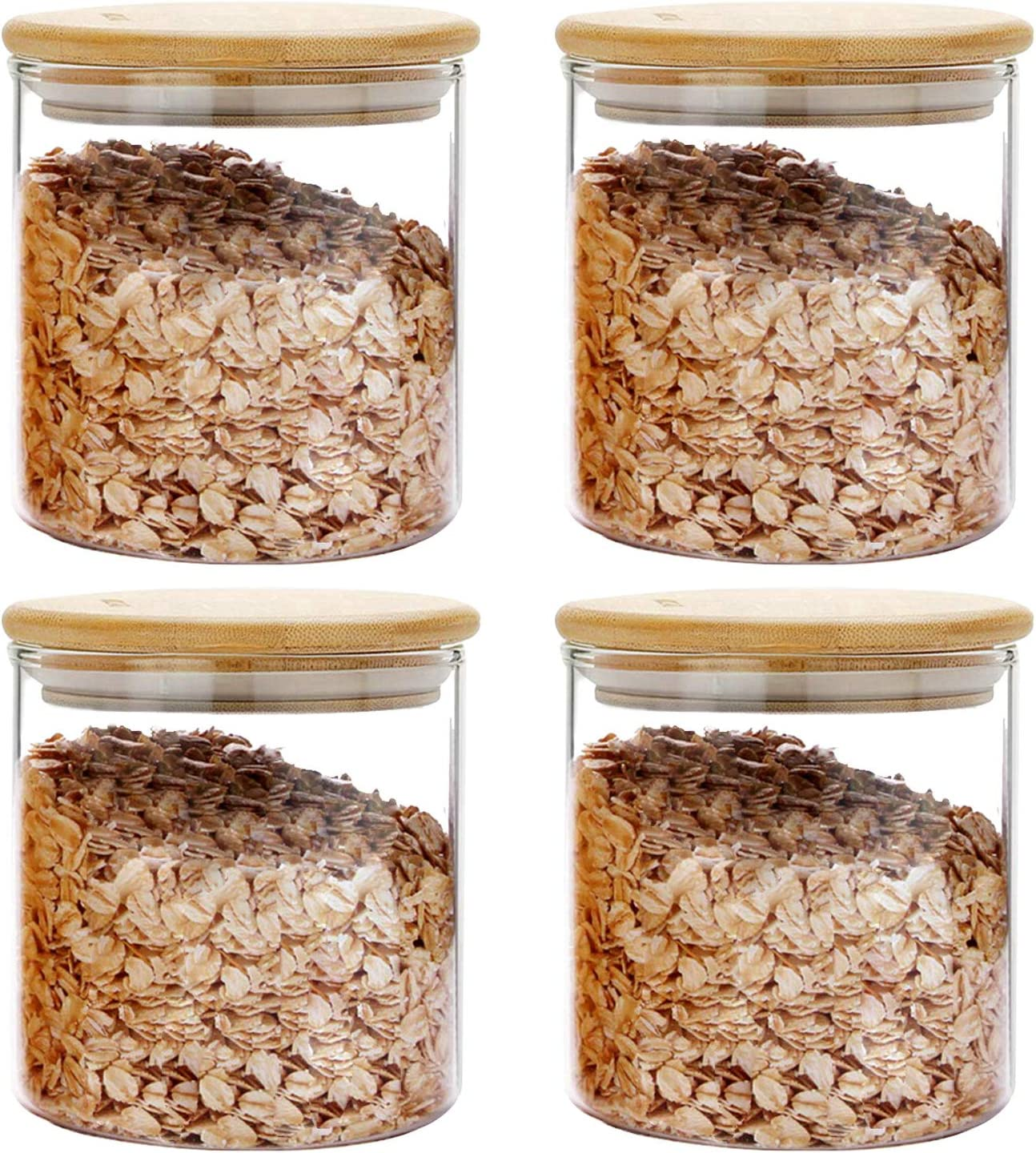 Glass Food Storage Jars Containers Bamboo with Airtight Moldiy supreme L Special price for a limited time
