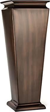 H Potter Tall Outdoor Planter Copper Large Flower Pots Indoor for Patio Balcony Garden Deck Front Porch Entryway