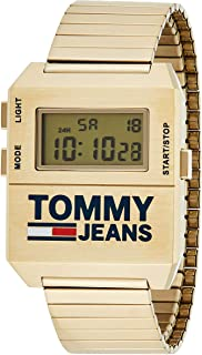 Tommy Hilfiger Mens Yellow Dial Ionic Thin Gold Plated 2 Steel Watch - 1791670