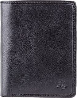 c51726c02f95 Visconti Tuscany Bi-Fold Black Genuine Leather Wallet For Men With RFID  Protection
