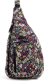 Vera Bradley Women's Signature Cotton Sling Backpack, Itsy Ditsy, Medium