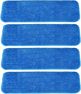 Ximoon 4 Pack- Microfiber Spray Mop Cleaning Pad Refills Replacement Heads for 15 to 18 Inch Bona, Libman, O-Cedar Floor C...