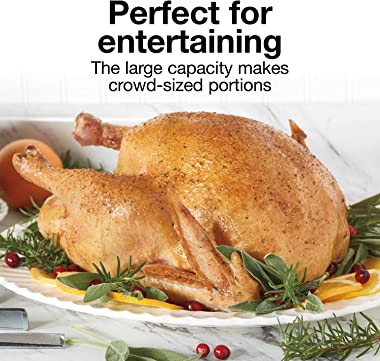 Proctor Silex 24-Pound Turkey Roaster Oven with Variable Temperature Control and Removable Pan, 18-Quart, Black (32200)