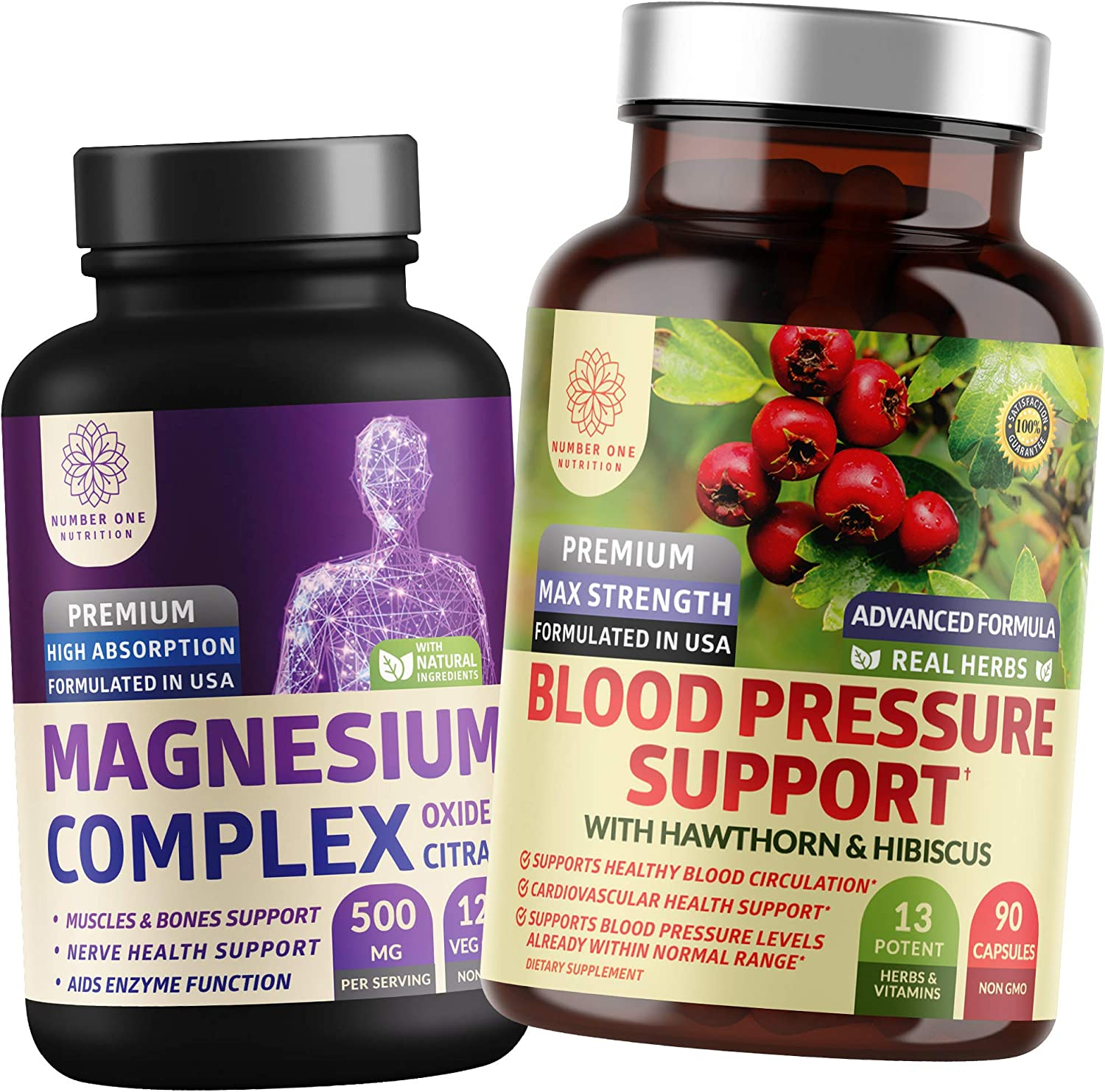 N1N Finally resale start Premium Blood Pressure Support Magnesium Complex Max 45% OFF All and Na