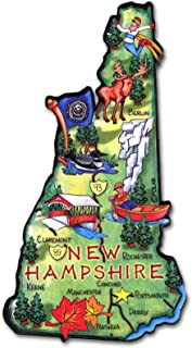 ARTWOOD MAGNET - NEW HAMPSHIRE STATE MAP
