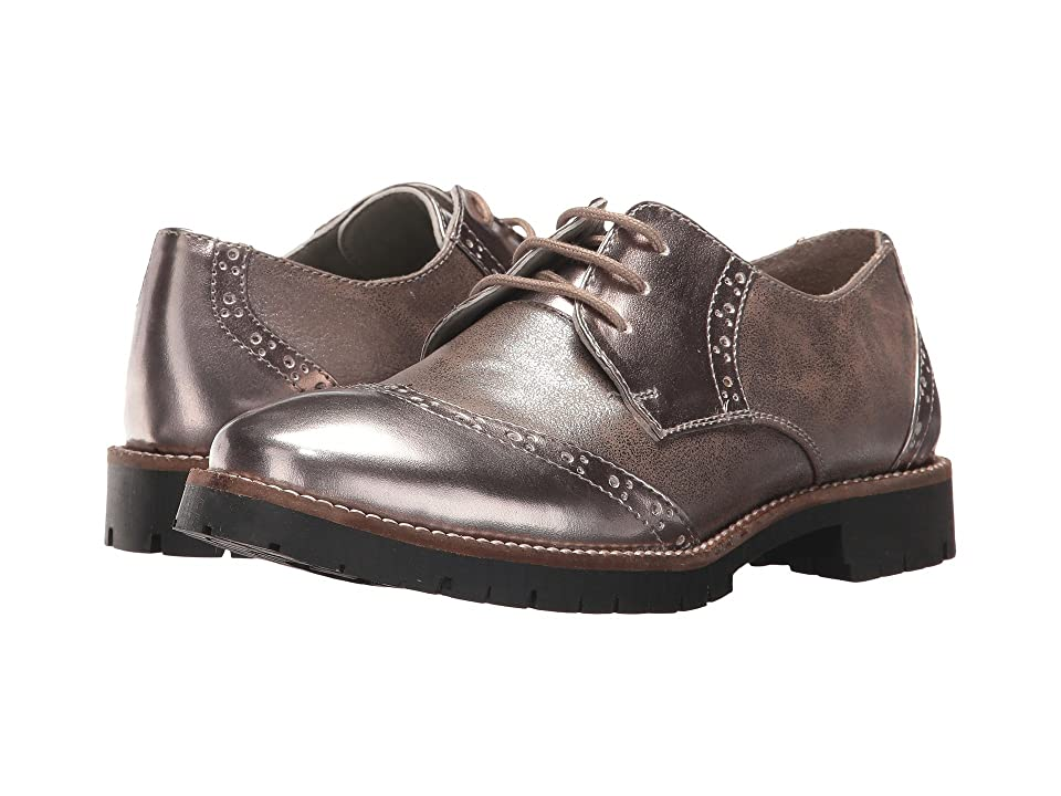 Pazitos The Oxford-Wing Tip PU (Toddler/Little Kid/Big Kid) (Taupe) Girls Shoes