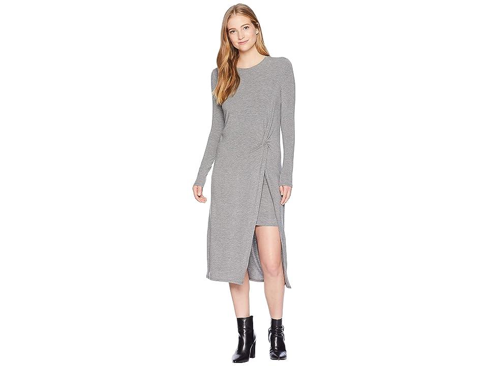 BCBGMAXAZRIA Round Neck Dress (Medium Heather Grey) Women