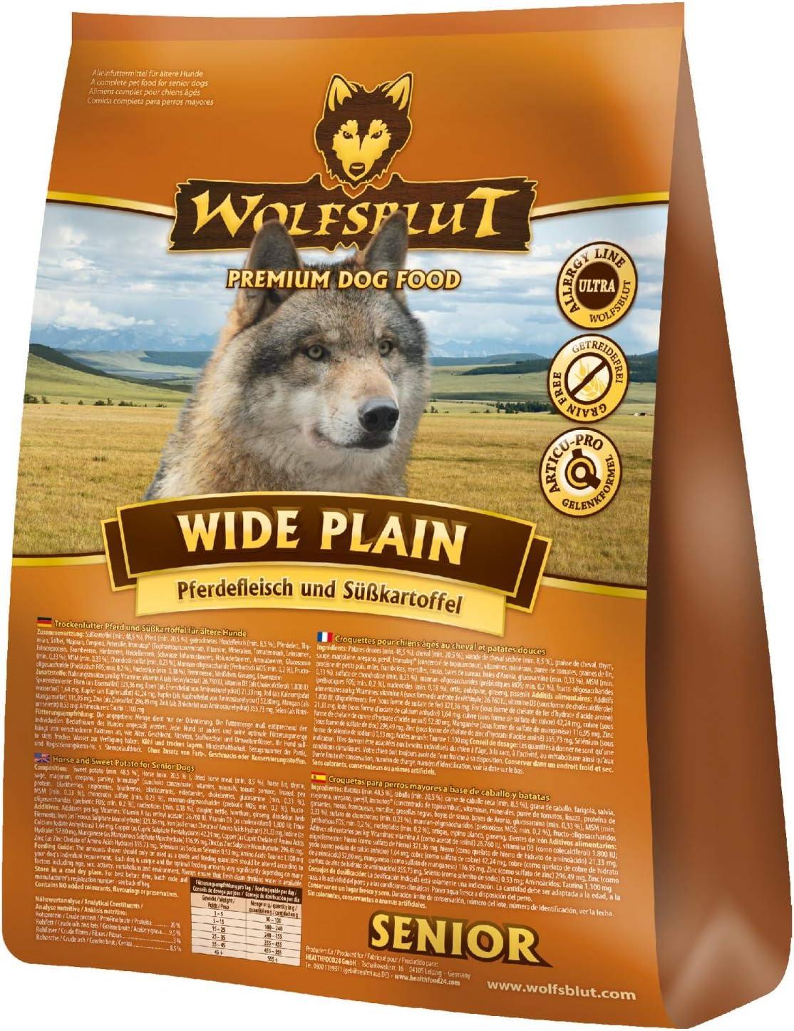 Wolfsblut Wide Plain Senior, 1 Unidad (1 x 2 kg)