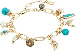 LAUREN Ralph Lauren - Turquoise and Pave Mixed Charms Bracelet