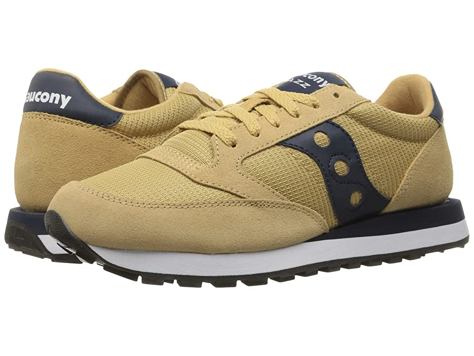 Saucony Originals Jazz O Ballistic Nylon (Tan/Navy) Men