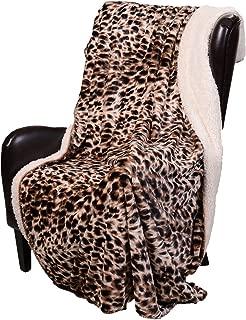 Regal Comfort Sherpa Luxury Throw Cheetah Print (50 x 70)