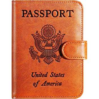 Passport Holder Cover Wallet RFID Blocking Leather Card Case Travel Accessories for Women Men