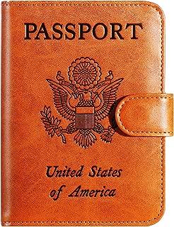 Passport Holder Cover Wallet RFID Blocking Leather Card Case Travel Accessories for Women Men