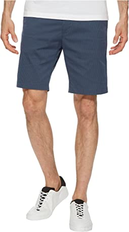 Calvin Klein - Flat Front Striped Twill Shorts