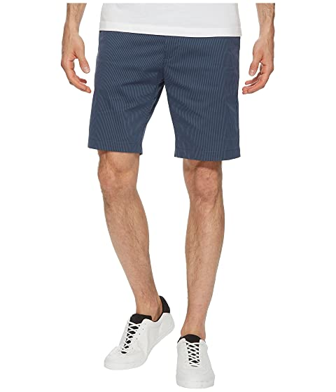 Shorts Front Flat Klein Twill Striped Calvin qX8EFE