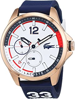 Lacoste Men's White Dial Silicone Band Watch - 2010902