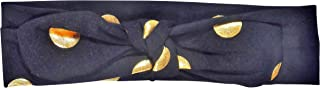 ES Kids Knot Headband - black with gold dot, Black