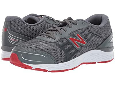 New Balance Kids YP680v5 (Little Kid/Big Kid) (Lead/Red) Boys Shoes