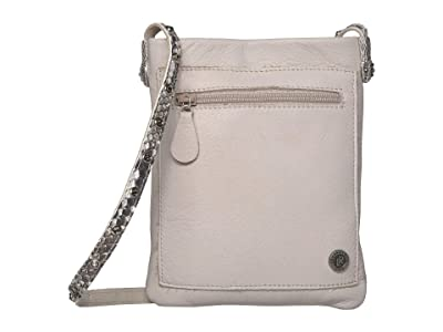 Leatherock Cobra Cell Pouch (Stone/Snake Bone) Cross Body Handbags
