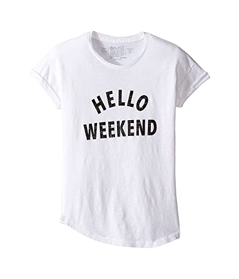 The Original Retro Brand Kids Hello Weekend Crew Neck Slub Tee (Big ... 91ec5c017a