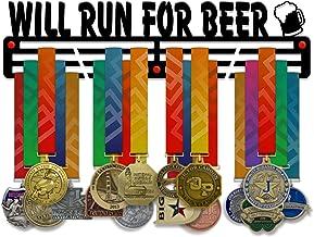 VICTORY HANGERS zal draaien voor Beer Medal Houder Display Rack - 3 Bars Zwart Gecoat 3 mm Staal Metalen Hanger met Wall M...