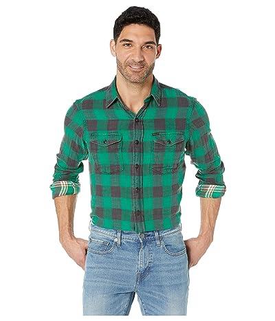 Polo Ralph Lauren Long Sleeve Woven Sportsman (Emerald/Black) Men
