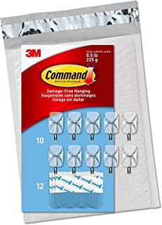Best Command Clear Small Wire Hooks, 10 Hooks, 12 Strips (CL067-10NA) - Easy to Open Packaging, Organize Damage-Free Reviews