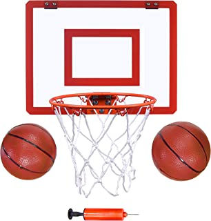 "Indoor Mini Basketball Hoop and Balls 16 ""x12 - Basketball Hoop for Door Set - Indoor Mini Basketball Game for Kids"