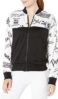 PUMA Women's Classics Track Jacket All Over Print, White