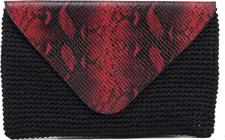 Asena & Alex, Woven Mail Bag Clutch, Handmade, Unique Design